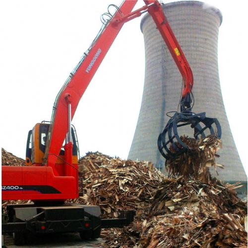 商河电厂抓树皮