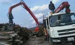 我公司YGSLZ400抓木机出口老挝