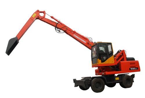 轮式三节臂卸煤机