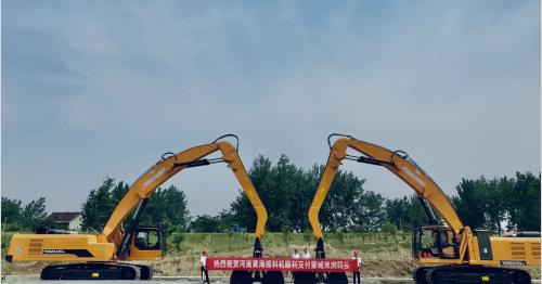 诚信铸造品牌,品质服务市场!热烈祝贺河南黄海两台机器顺利交付蒙城双涧码头!