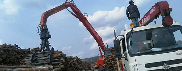 娱乐电子游戏平台网址公司YGSLZ400抓木机出口老挝